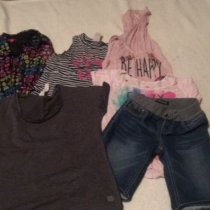 Assorted shorts and blouses size 10 medium